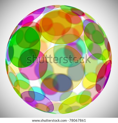 sphere with circles of different colors