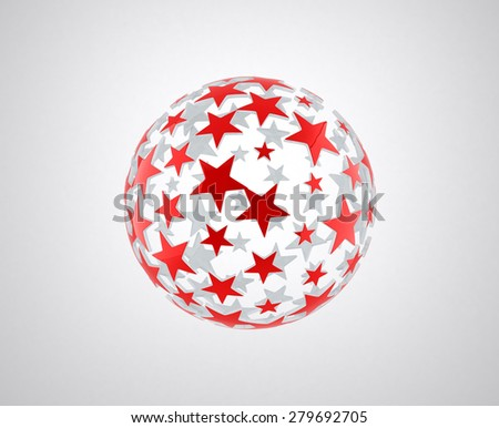 sphere with star pattern - stock photo