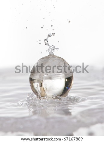 Spheres&water - stock photo