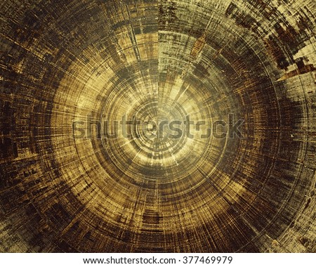 Spherical art vintage background with different color patterns: yellow (beige); brown; gray; black - stock photo