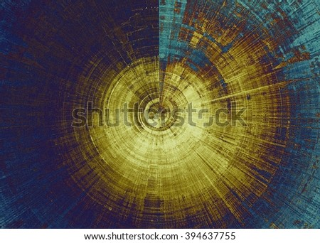 Spherical retro style background with grungy vintage texture and different color patterns: blue; yellow (beige); brown; purple (violet) - stock photo