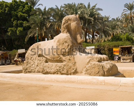 Sphinx from the Memphis open-air museum. Egypt series