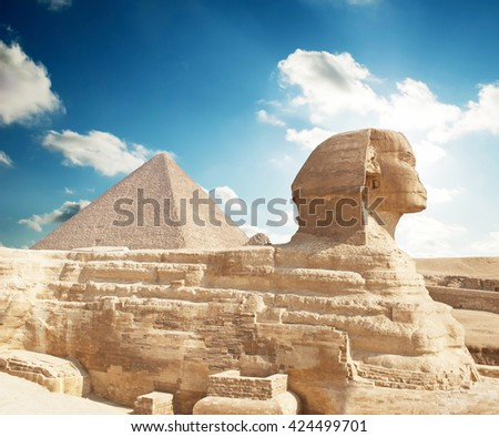 Sphinx Giza, Egypt. - stock photo