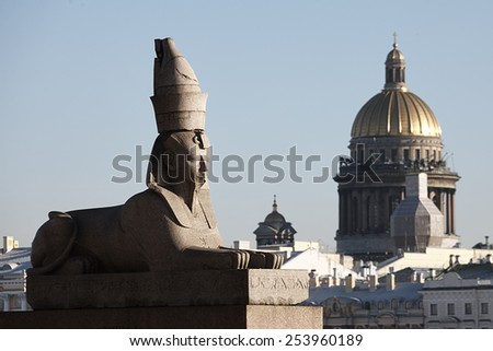 Sphinx in Saint-Petersburg - stock photo