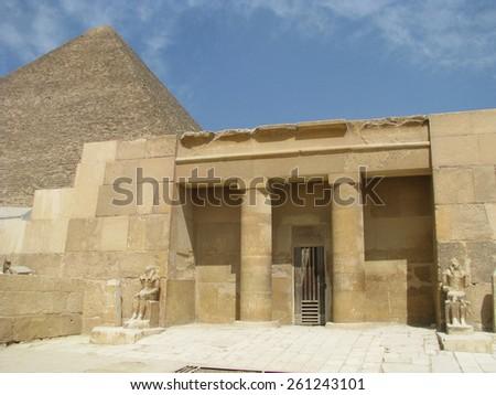 Sphinx Keops Pyramides Cairo Egypt 8 - stock photo