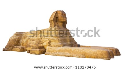 sphinx on a white background - stock photo