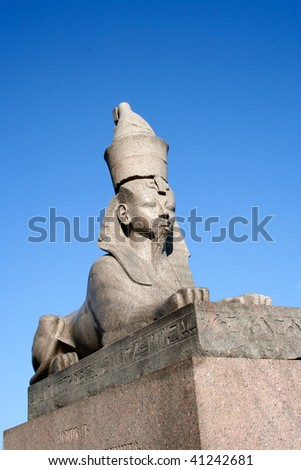 Sphinx on Neva river in St.Petersburg, Russia - stock photo