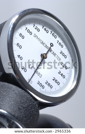 Sphygmomanometer close up