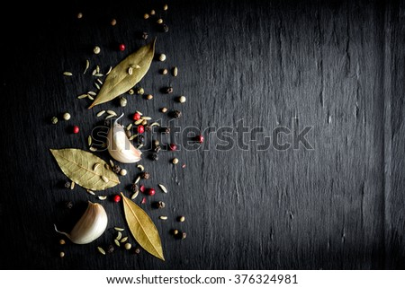 Spice background - stock photo