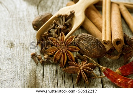 Spice Border - stock photo