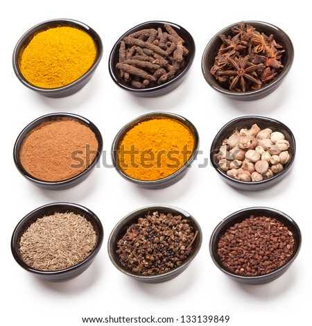 Spice isolate on white background - stock photo