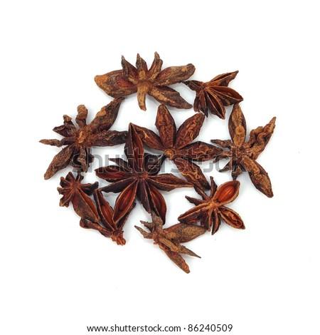 Spice isolated on white background - stock photo