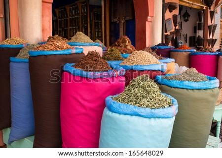 Spice market - stock photo