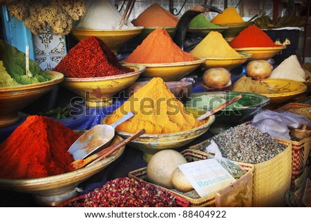 Spice market - stock photo