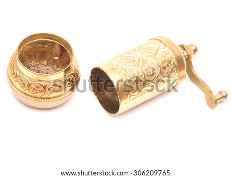 spice mill isolated on a white background