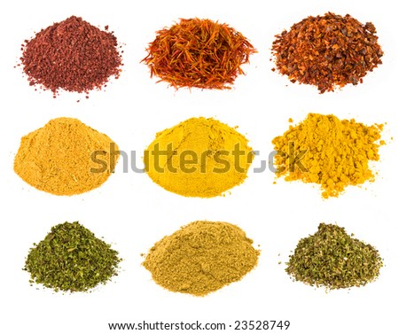 Spice - on a white background. - stock photo