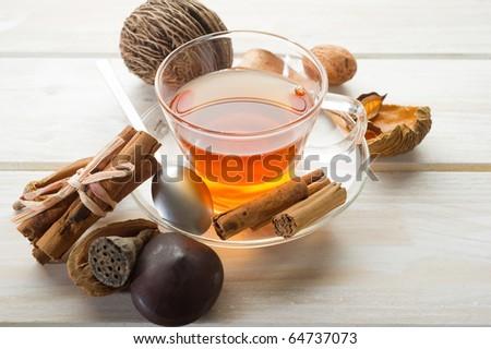 spiced tea - stock photo