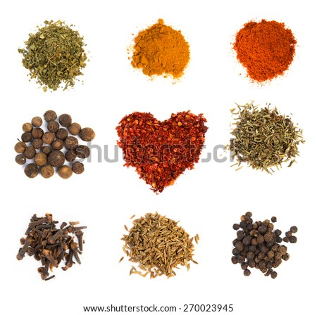 Spices and herbs - stock photo