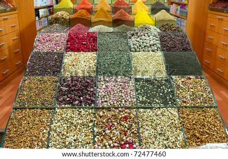Spices and teas - stock photo