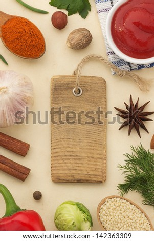 spices background and healthy food