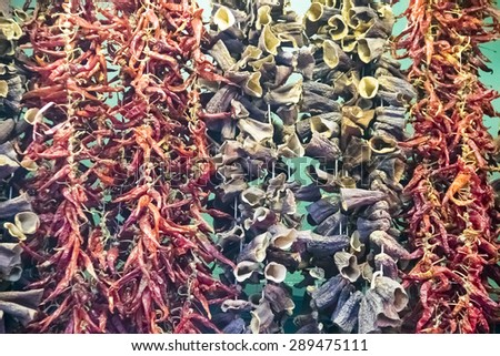 Spices bazaar - stock photo