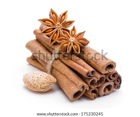 Spices. Cinnamon and anise.  - stock photo
