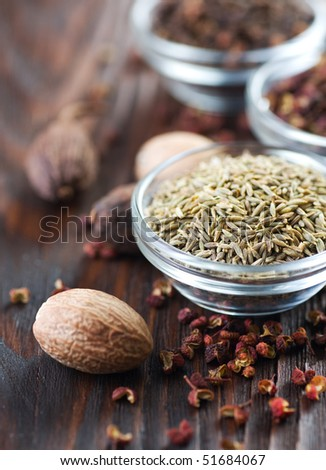 Spices closeup - stock photo
