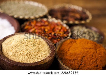 Spices, Cooking ingredient  - stock photo
