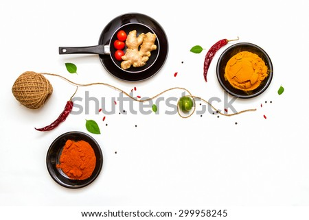 spices for food on background. - stock photo