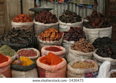 Spices from the market at Oruro, Bolivia