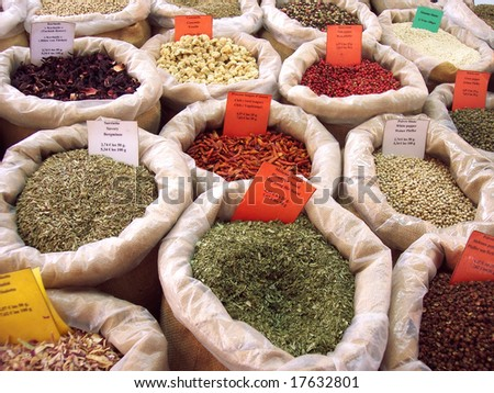 Spices in Provence, France - stock photo
