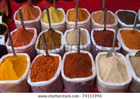 Spices used in cooking food - stock photo