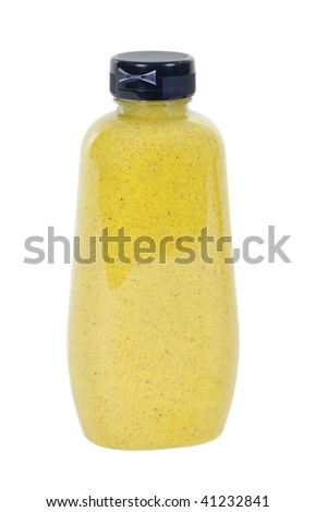 Spicy brown mustard ; isolated, clipping path included - stock photo