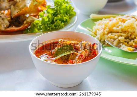Spicy Fish Soup - stock photo