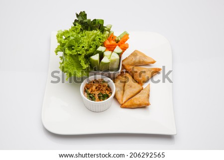 Spicy fried - stock photo
