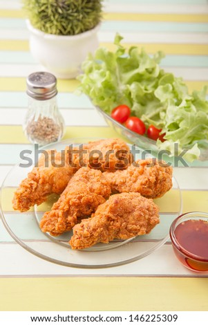 Spicy Fried Chicken - stock photo