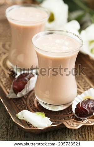 Spicy pink Kashmir tea - stock photo