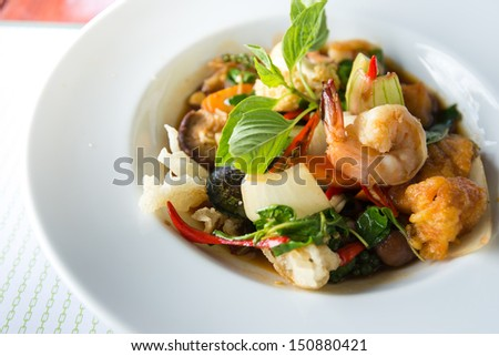 Spicy seafood - stock photo