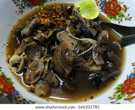spicy soup of ox tail and cow foot
