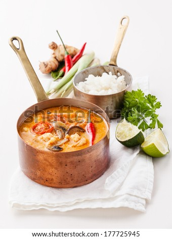 ... Pictures spicy curry noodle soup with chicken and sweet potato
