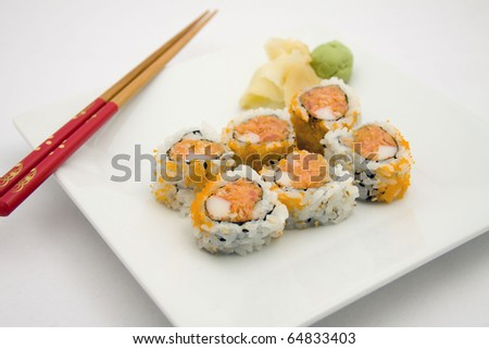 Spicy Tuna Roll - stock photo