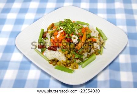 Spicy Vegetarian Dish - stock photo