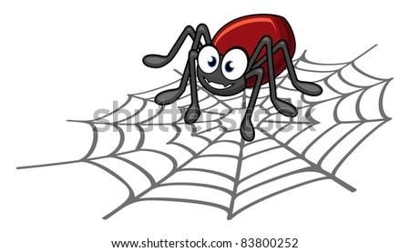 Spider cartoon - stock photo