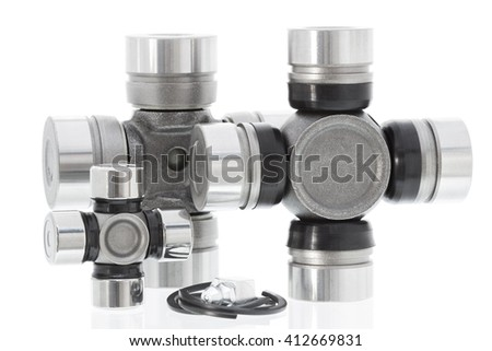 SPIDER KIT, PROPELLER SHAFT UNIVERSAL JOINT isolated on white background. horizontal shot - stock photo