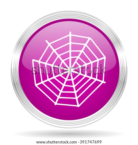 spider modern web pink modern web design glossy circle icon