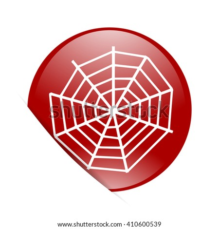 spider modern web red circle glossy web icon