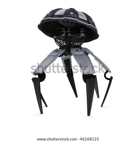 Spider Robot - stock photo