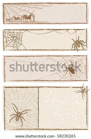 Spider Web Banners  - Raster version - stock photo