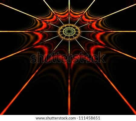 Spider Web Fractal Illustration - stock photo