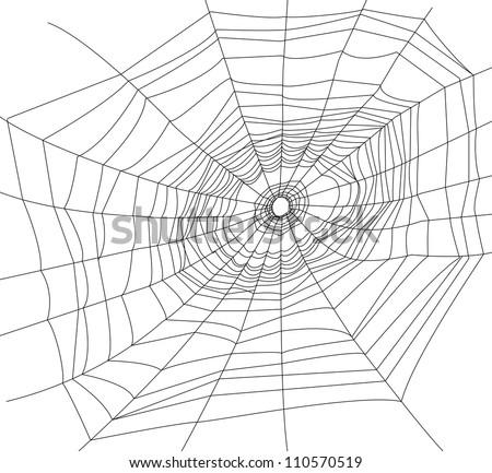 spider web or cobweb illustrations. - stock photo